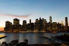 Tramonto di New York City Fotografie Stock