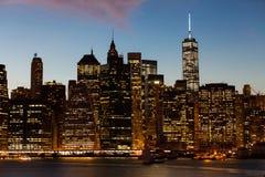 Tramonto di New York City Fotografie Stock Libere da Diritti