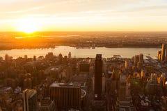 Tramonto di New York City Immagine Stock Libera da Diritti