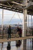 Tramonto di Parigi Fotografia Stock