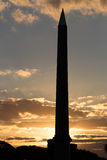 Tramonto di Parigi all'obelisco Immagini Stock Libere da Diritti