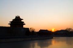 Tramonto di Pechino Fotografia Stock Libera da Diritti