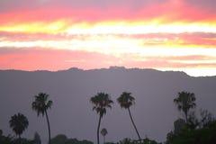 Tramonto di Santa Barbara Immagini Stock Libere da Diritti