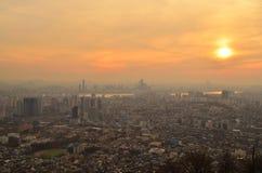 Tramonto di Seoul Immagine Stock Libera da Diritti