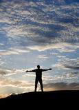 tramonto di successo Fotografia Stock Libera da Diritti