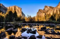 Tramonto di vista della valle Fotografie Stock