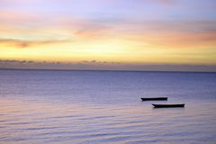 Tramonto di Zanzibar Immagine Stock Libera da Diritti