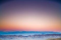 Tramonto distante Fotografia Stock