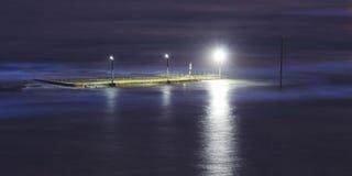 Tramonto distante 02 dello stagno dell'oceano Immagine Stock Libera da Diritti