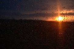 Tramonto dopo la pioggia Fotografia Stock