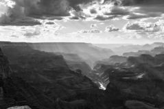 Tramonto drammatico a Grand Canyon, U.S.A. fotografia stock libera da diritti