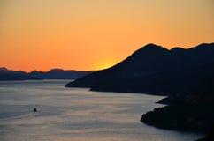 Tramonto a Dubrovnik, Croatia Immagini Stock