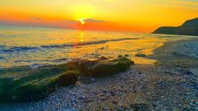 Tramonto e spiaggia fotografie stock libere da diritti