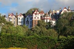 Tramonto a Edinburgh, Regno Unito fotografie stock libere da diritti