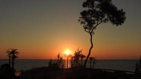 Tramonto em Sardegna Imagens de Stock