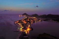 Tramonto fantastico nel mare caraibico fotografia stock libera da diritti