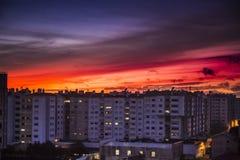 Tramonto fantastico nel Portogallo fotografia stock
