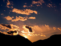 Tramonto favoloso sulle alpi Fotografie Stock
