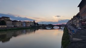 Tramonto in Florance l'IT fotografia stock libera da diritti
