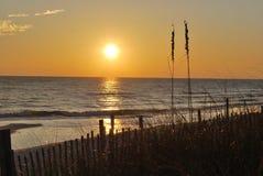 Tramonto Florida Pan Handle della spiaggia Immagine Stock