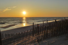 Tramonto Florida Pan Handle della spiaggia Fotografia Stock Libera da Diritti