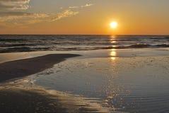 Tramonto Florida Pan Handle della spiaggia Immagine Stock Libera da Diritti