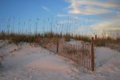 Tramonto Florida Pan Handle della spiaggia Fotografie Stock Libere da Diritti