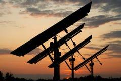 Tramonto fotovoltaico Immagini Stock
