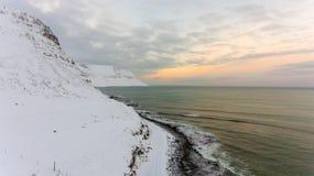 Tramonto in fuco - l'Oceano Atlantico fotografia stock