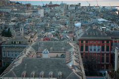 Tramonto, Genova fotografia stock