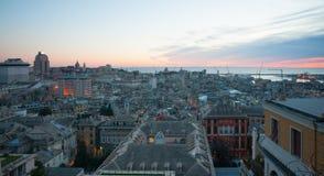 Tramonto, Genova fotografie stock libere da diritti