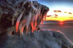 Tramonto ghiacciato Fotografia Stock