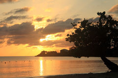 Tramonto in Giamaica, mar dei Caraibi Fotografia Stock