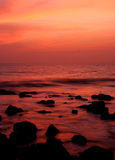 Tramonto in Goa, India. Immagini Stock