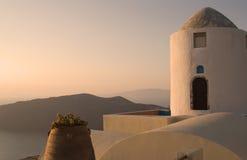 Tramonto greco Immagini Stock