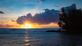Tramonto in Haleiwa, Hawai Fotografie Stock Libere da Diritti