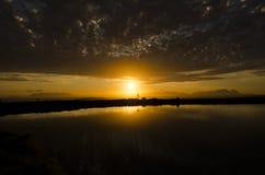 Tramonto II del lago immagini stock libere da diritti
