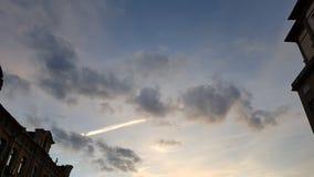 Tramonto Il cielo con le nuvole variopinte Immagini Stock Libere da Diritti