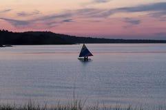 Tramonto il lago Superiore, Marquette, Michigan fotografia stock