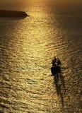 Tramonto incredibile sopra il mare Fotografia Stock Libera da Diritti