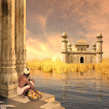 Tramonto indiano Fotografia Stock