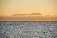 Tramonto. Isole di San Juan, Washigton, S.U.A. Fotografia Stock Libera da Diritti