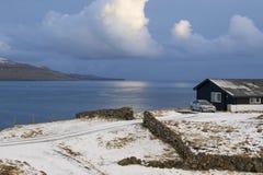 Tramonto in isole faroe Immagini Stock Libere da Diritti