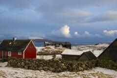 Tramonto in isole faroe Fotografie Stock Libere da Diritti