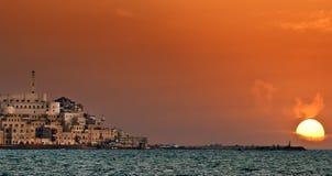 Tramonto in Jaffa Fotografia Stock