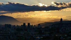 Tramonto 4K di Sarajevo video d archivio