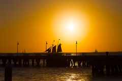 Tramonto a Key West, Florida Immagine Stock