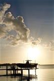 Tramonto a Key West, Florida Immagini Stock Libere da Diritti