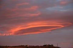 Tramonto Kingman del UFO fotografia stock libera da diritti