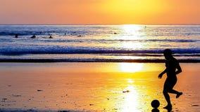 Tramonto a Kuta Bali, Indonesia Immagine Stock Libera da Diritti
